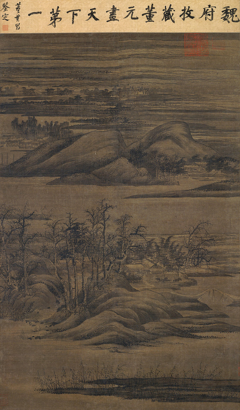 Dong Yuan: Wintry Groves and Layered Banks