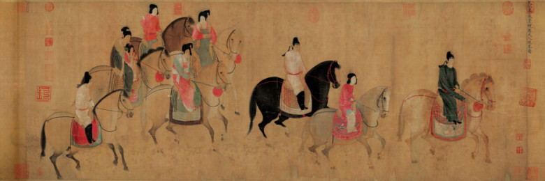 Court Ladies of Guo on a Spring Excursion