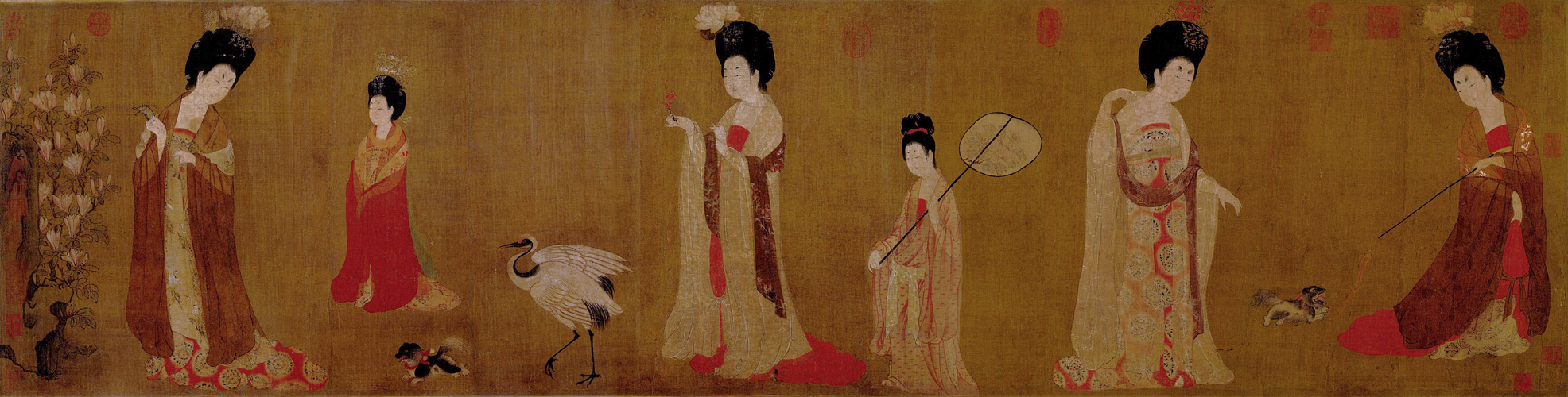 Zhou Fang: Court Ladies with Flowered Headdresses