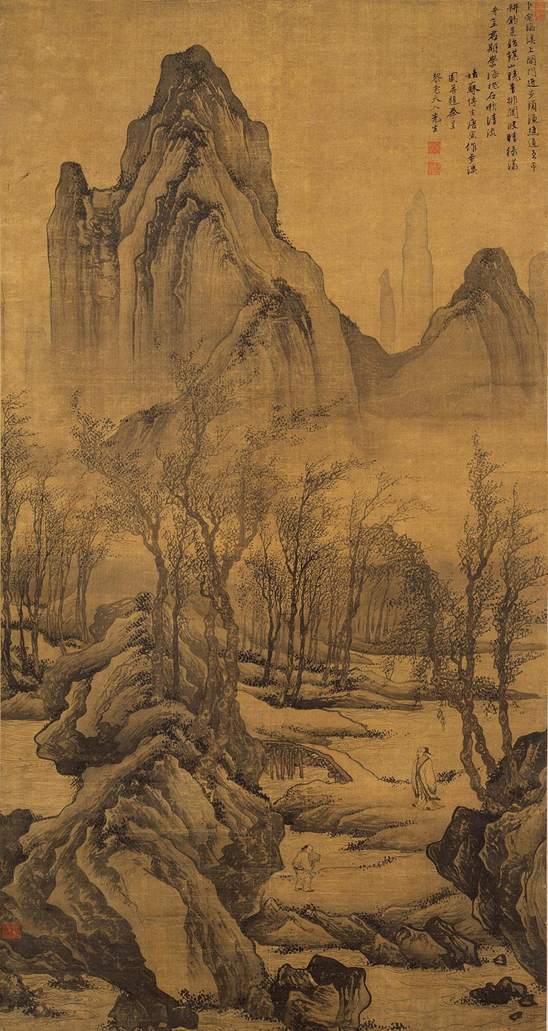 tang-yin_strolling-by-the-stream