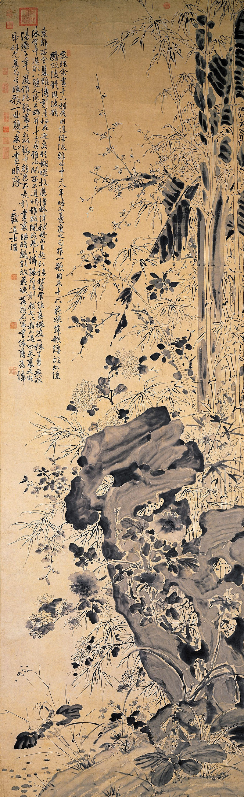 Flowers and Bamboos