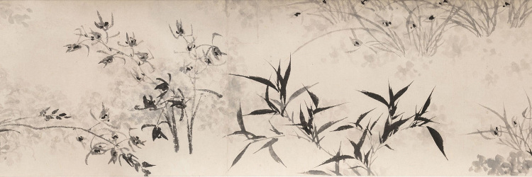Rocks, Orchids, and Bamboo