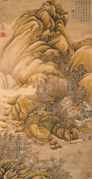 Wang Shimin: After Wang Wei's Clearing of Mountains and Rivers after Snow