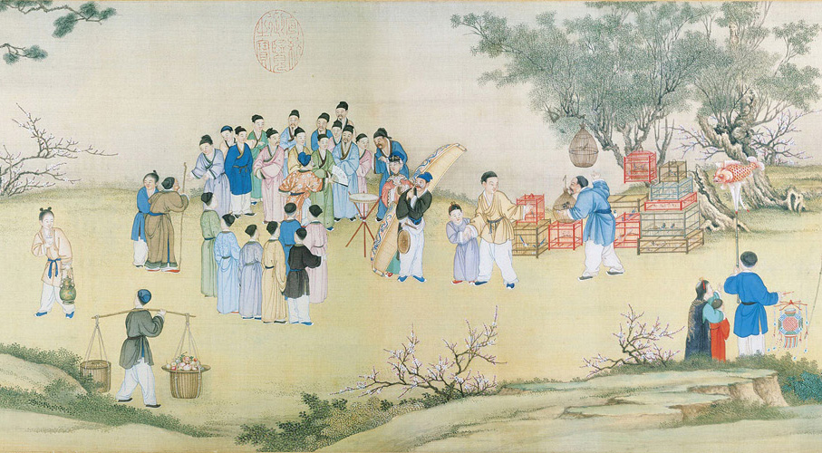 Ding Guanpeng: Spring Market at Peace
