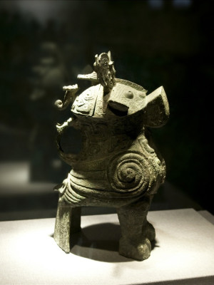Wine Vessel Zun of Fuhao in the Shape of Owl