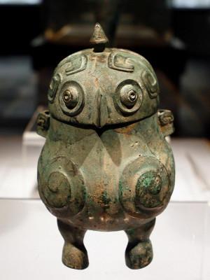 Wine Vessel in the Shape of Owl