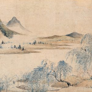 yun-shouping_sunset-along-the-floral-embankment_part