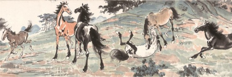 Ten Horses in Spring Mountains