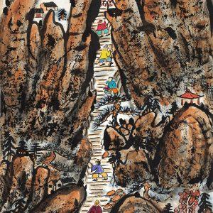 fang-zhaolin_climbing-mount-tai