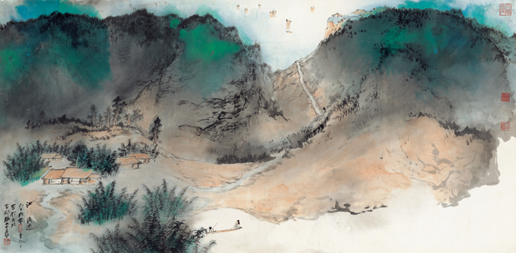 Zhang Daqian Late Return To The Riverside Village China