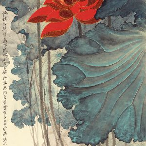 zhang-daqian_lotuses-with-golden-lines
