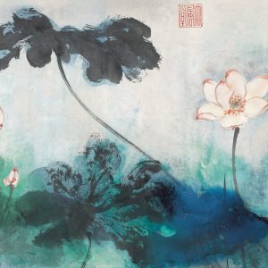 zhang-daqian_red-lotuses-in-splashed-colors