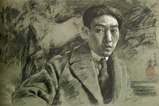 xu-beihong_self-portrait