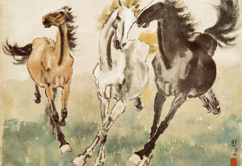Three Galloping Horses