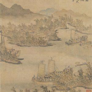 chen-hongshou_returning-sails-off-distant-shore