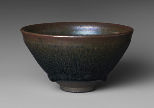 Jian ware, tea bowl with hare's fur glaze, Metropolitan Museum of Art, New York, USA