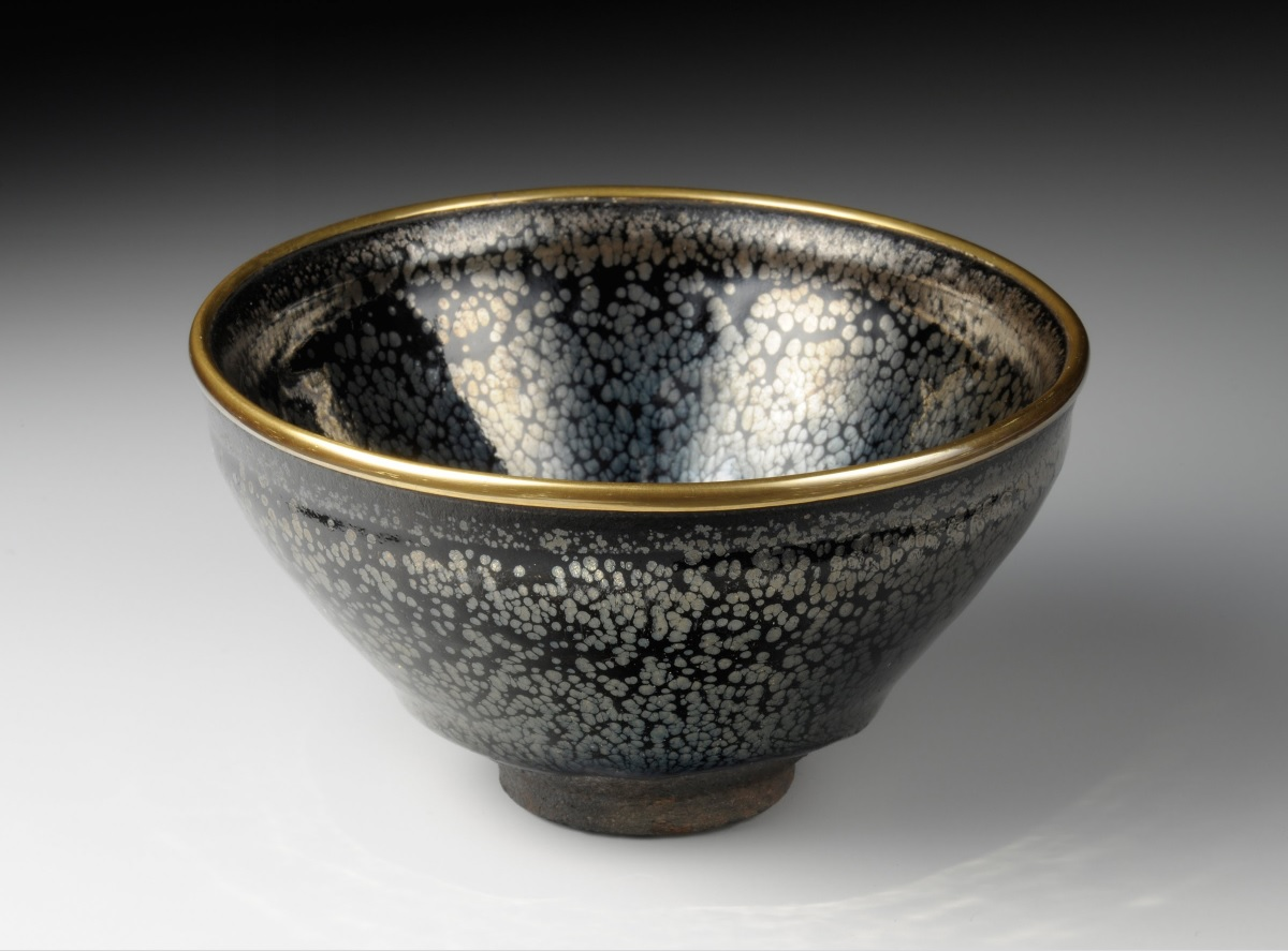 Jian ware, tea bowl with oil-drop glaze, Museum of Oriental Ceramics, Osaka, Japan
