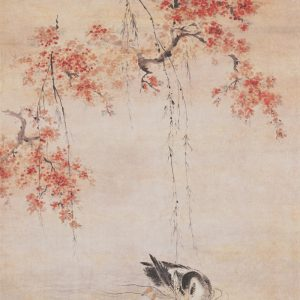 hua-yan_duck-swimming-under-peach-blossoms