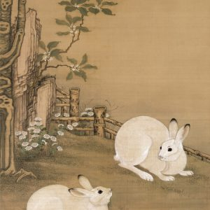 leng-mei_twin-rabbits-under-a-plane-tree