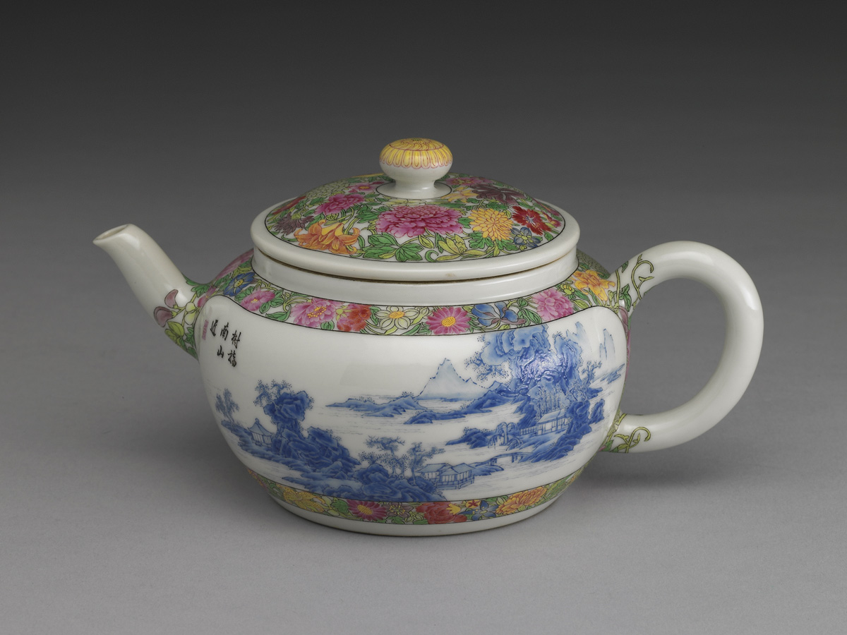 Enameled teapot, National Palace Museum, Taipei