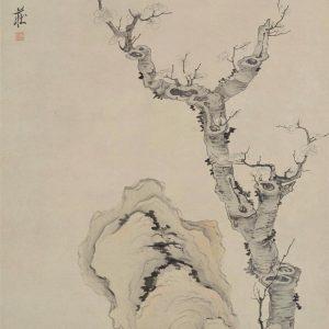 chen-hongshou_plum-blossoms-and-rocks