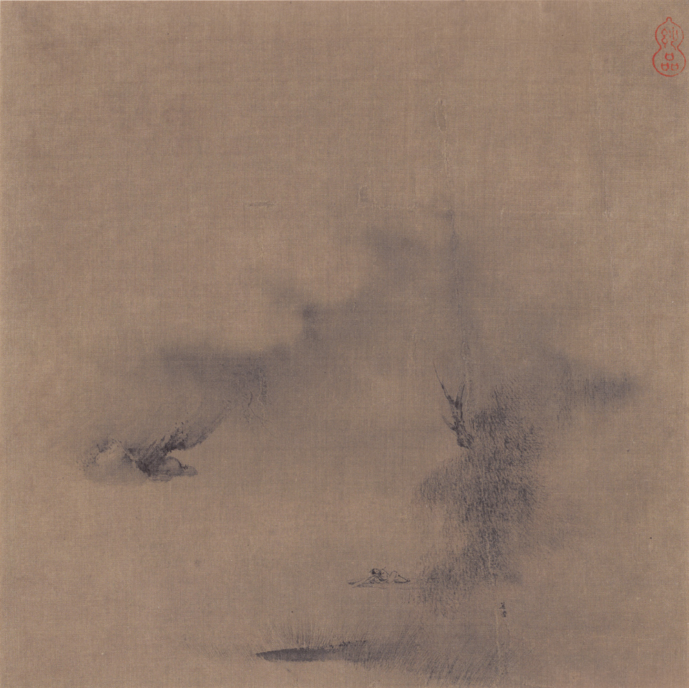 Liang Kai: Lying in a Boat and Playing the Flute
