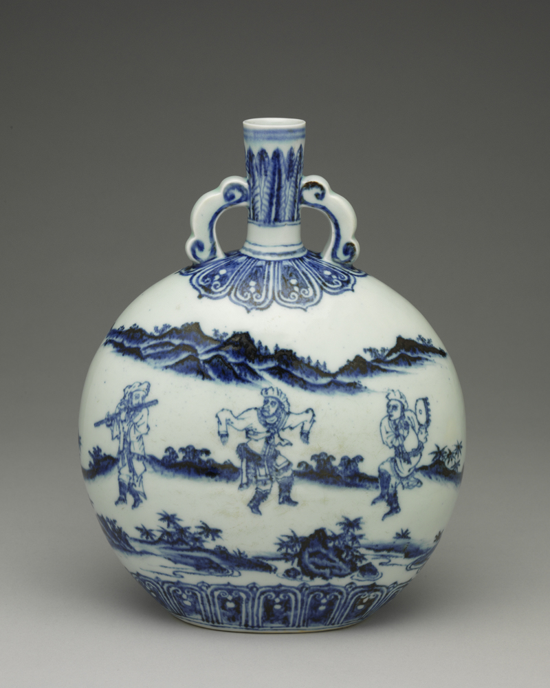 Ming: Yongle Flat Vase with Figures