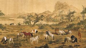qing_lang-shining_one-hundred-horses