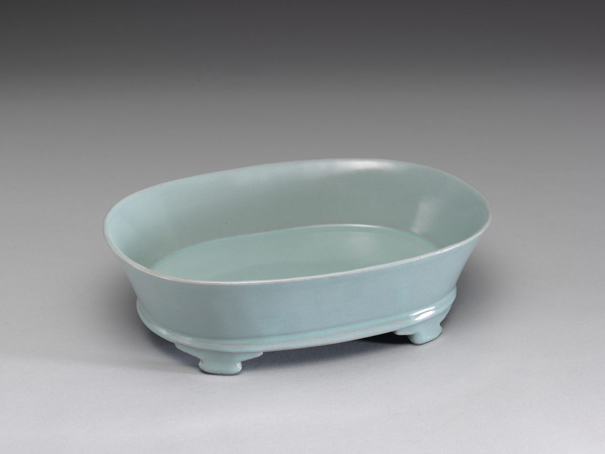 Song: Ru Ware Narcissus Basin with Light Bluish-green Glaze