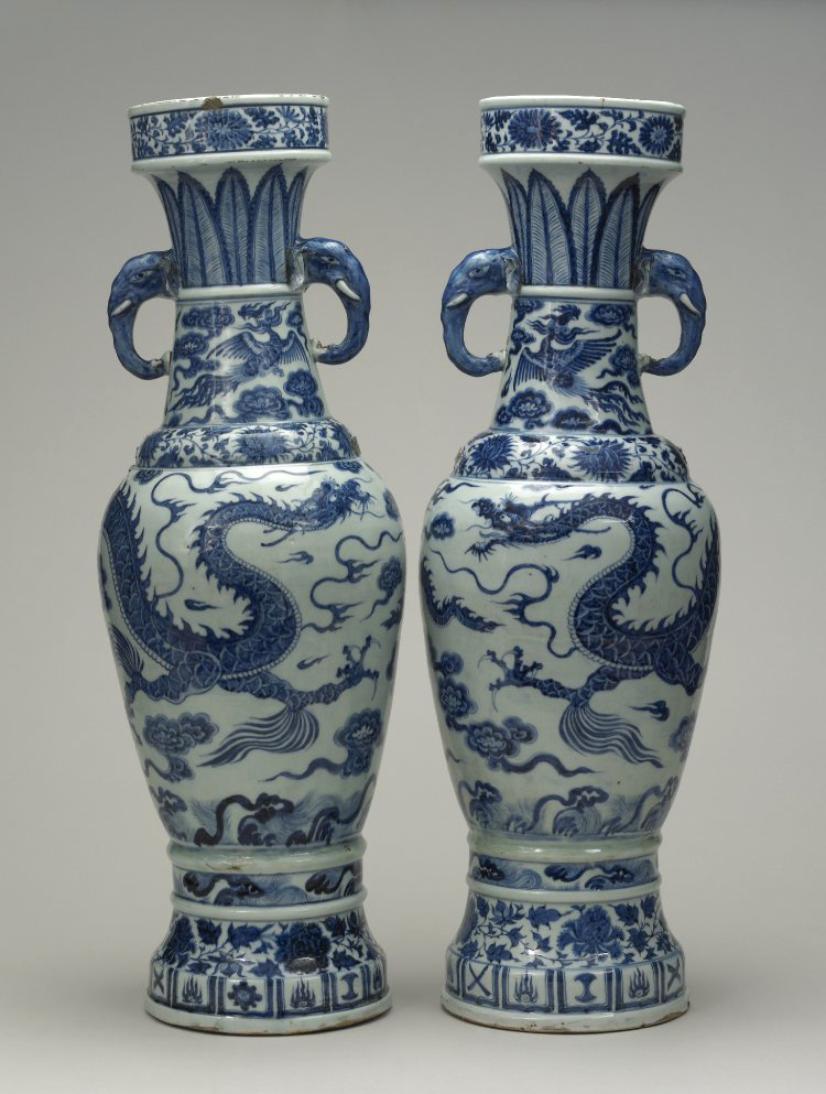 Yuan The David Vases Chinese Arts China Online Museum