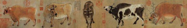 Han Huang: Five Bulls