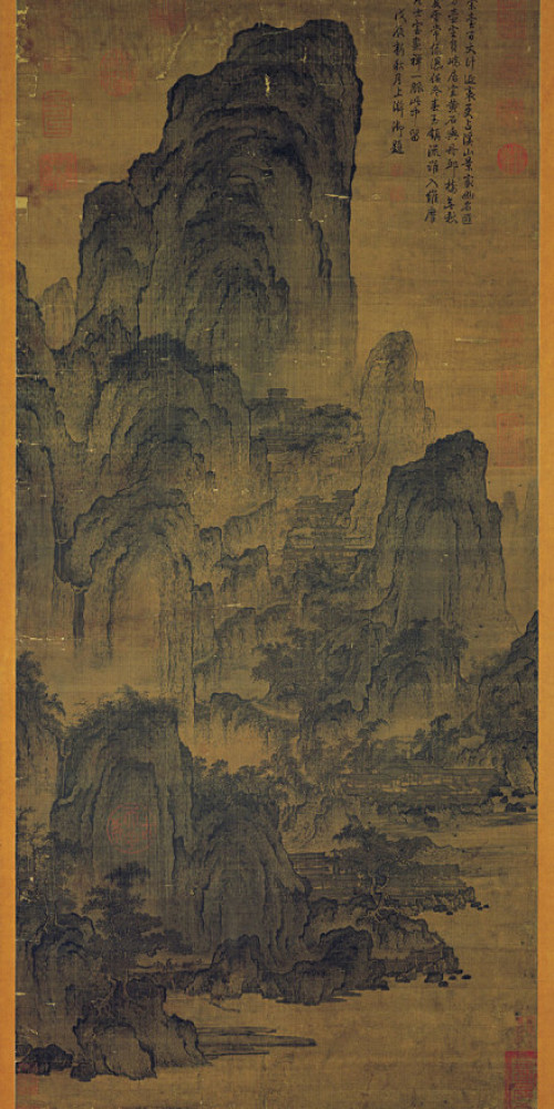 Pavilions Among Mountains and Streams