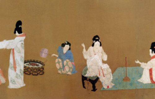 Zhang Xuan: Court Ladies Preparing Silk