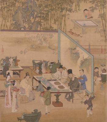 Appreciating Antiquities in the Bamboo Garden