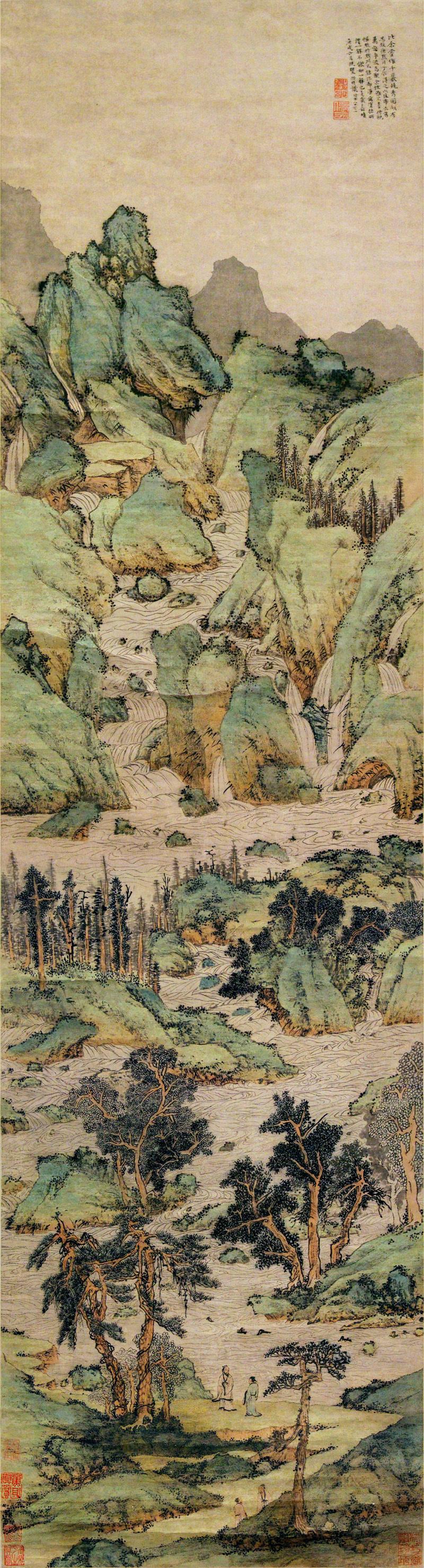 wen-zhengming_myriads-of-valleys