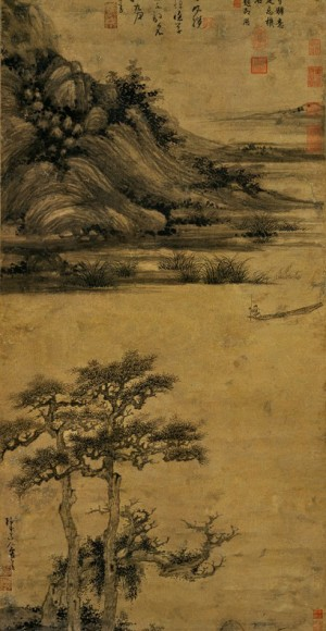 Wu Zhen: Fisherman in Reclusion at Dongting
