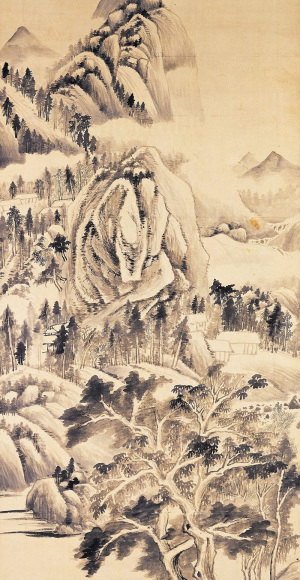 Dong Qichang: Shady Trees in a Summer Landscape