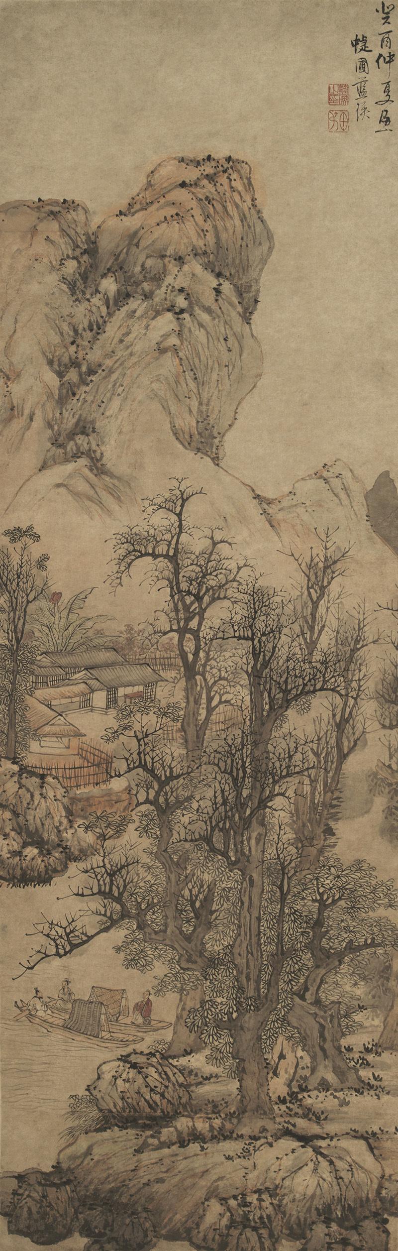 lan-ying_fisherman-recluses-in-autumn-mountains