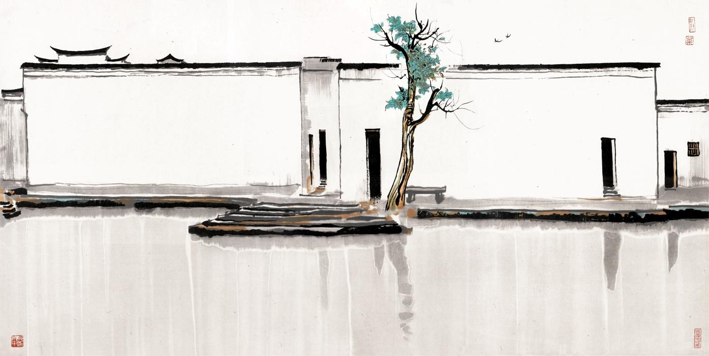 wu-guanzhong_twin-swallows