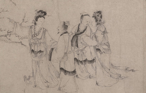Zhao Cangyun: Liu Chen and Ruan Zhao Entering the Tiantai Mountains