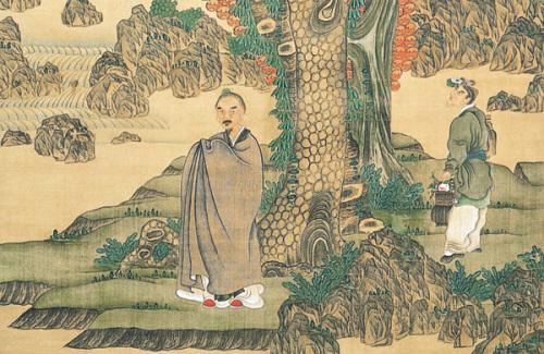 Chen Hongshou: Pine and Longevity