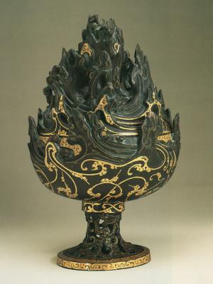 Boshan Incense Burner Gilded with Gold