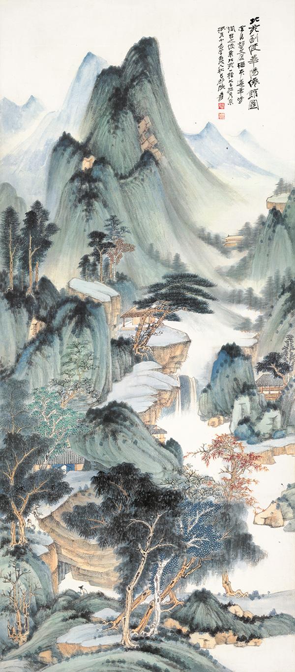 zhang daqian  huayang celestial hall
