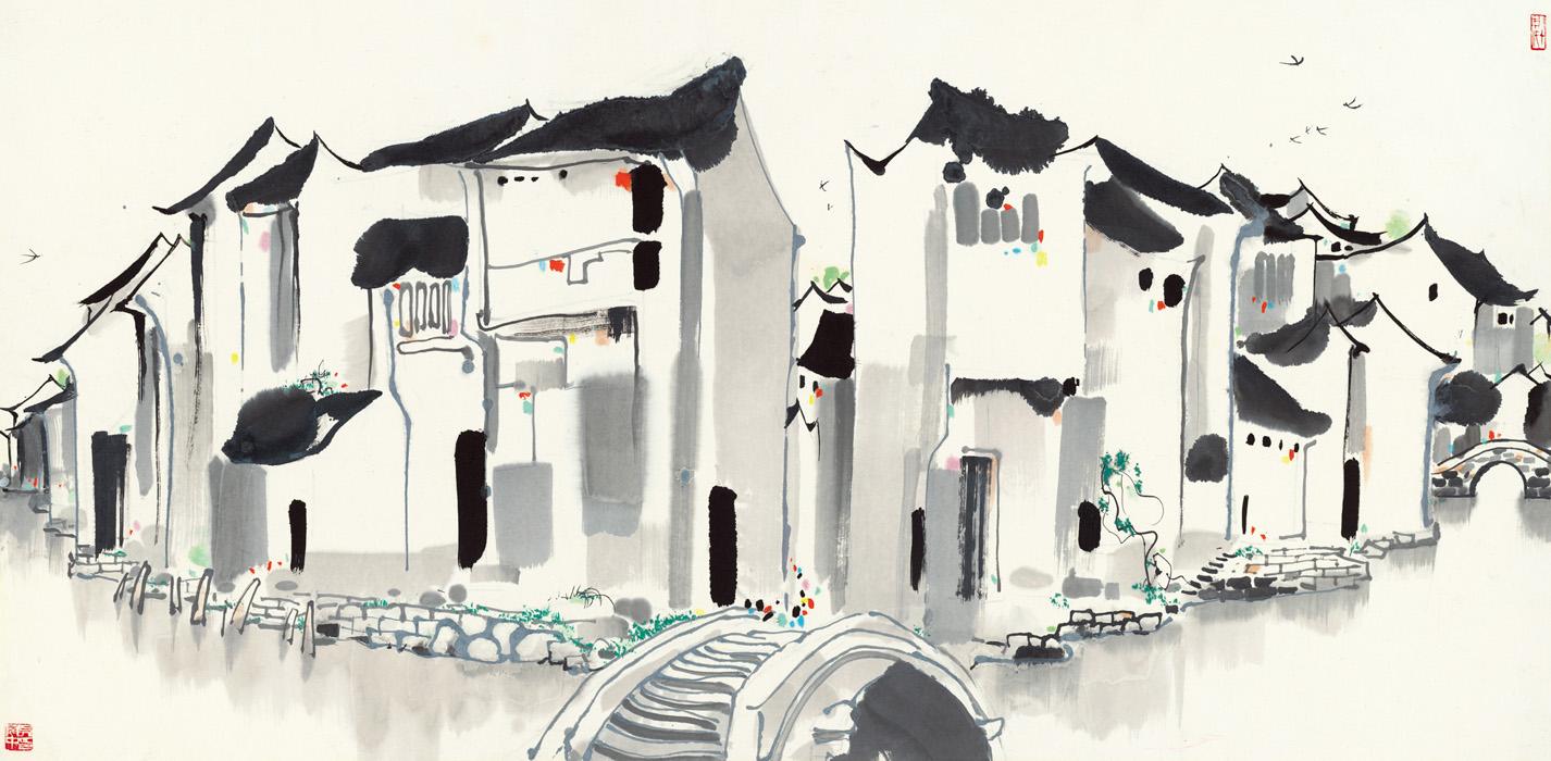 wu-guanzhong_zhou-village