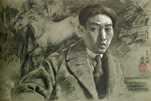 xu-beihong_self-portrait