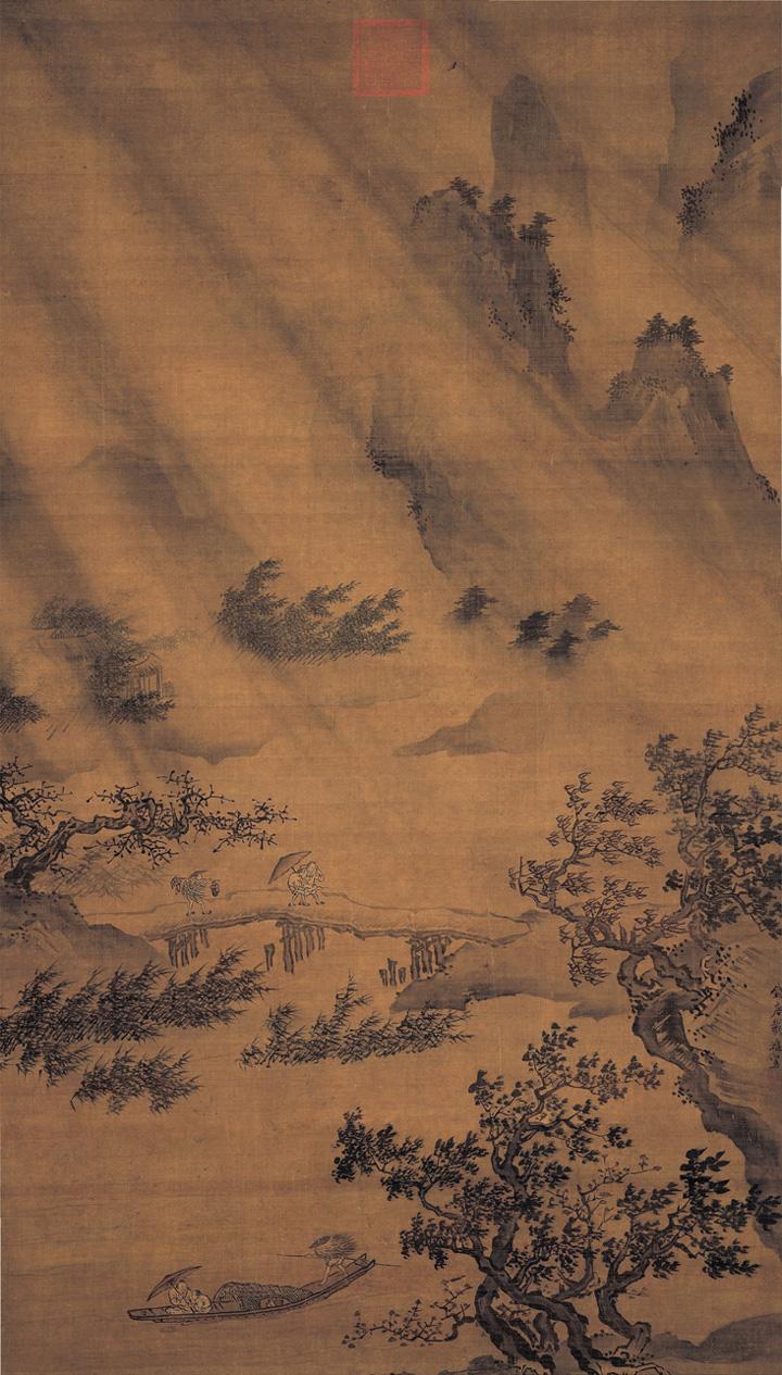 dai-jin_boat-returning-amid-wind-and-rain