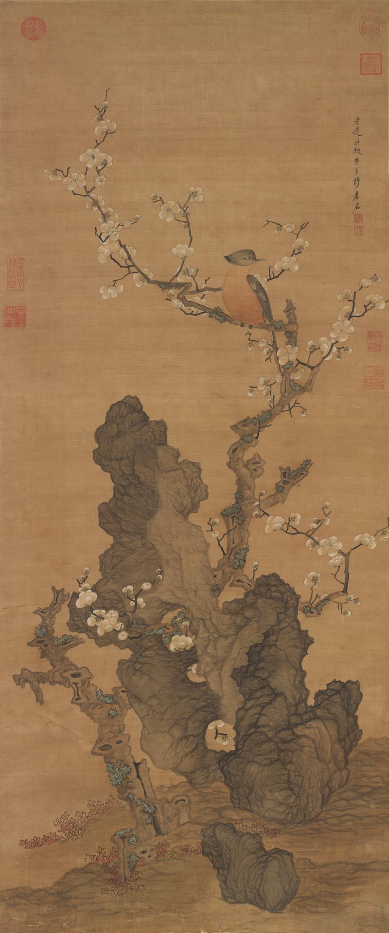 chen-hongshou_plum-blossoms-and-wild-bird