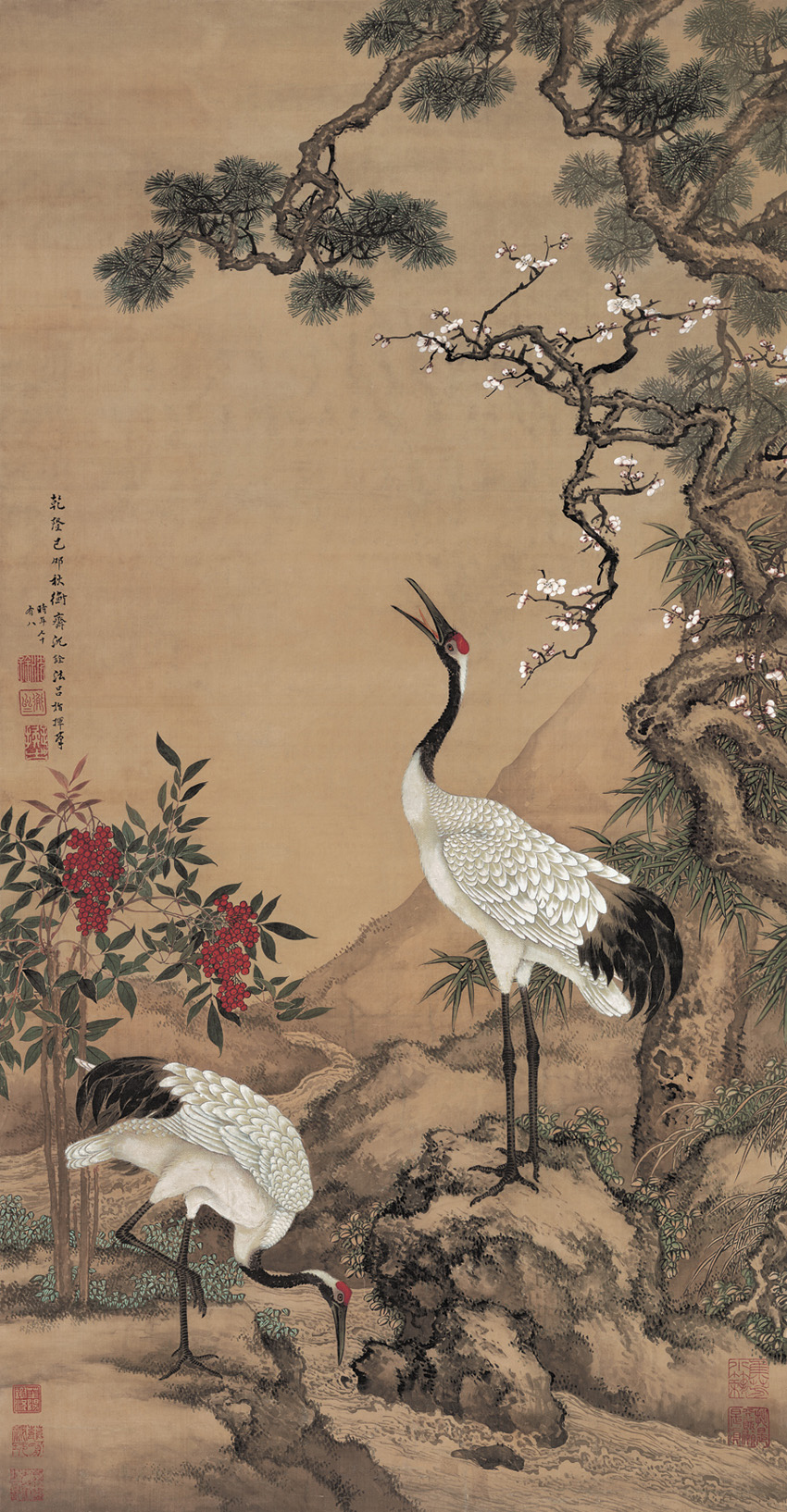 shen-quan_pine-plum-and-two-cranes.jpg