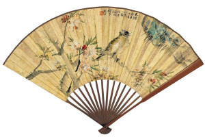 ren-bonian_peach-blossom-and-bird