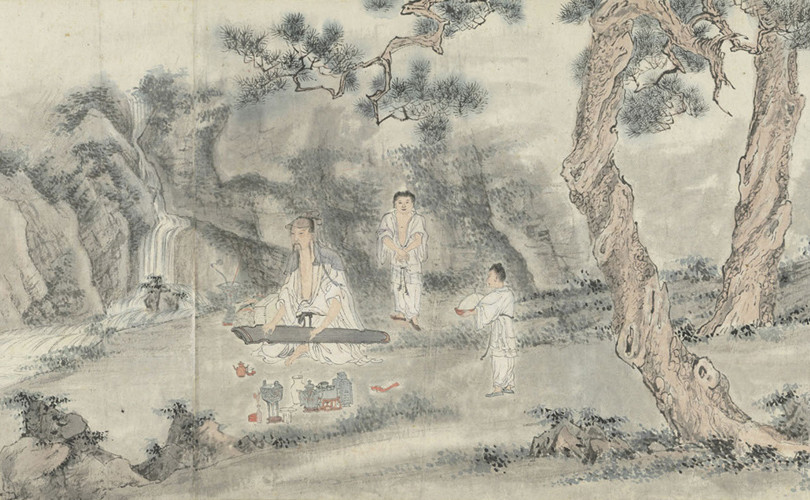 Scholar Playing the Qin